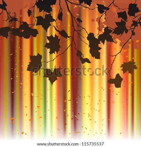 Leaf, autumn - vector background - stock vector