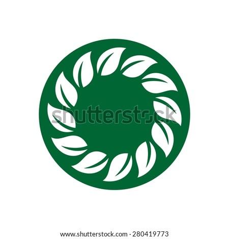 leaf botany ecology logo - stock vector