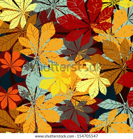 Leaf chestnut pattern - vector EPS silhouette - stock vector