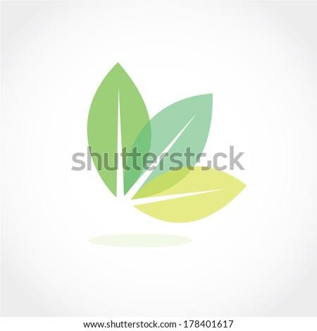 leaf icon vector - stock vector