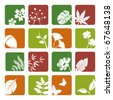 Leaf icons set. Illustration vector. - stock vector