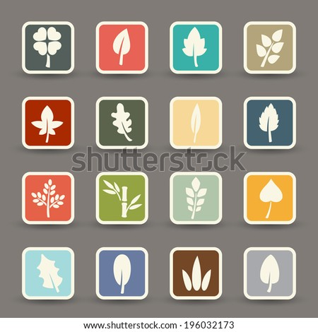 leaf icons.vector eps10 - stock vector