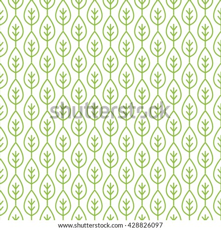 leaf pattern - stock vector