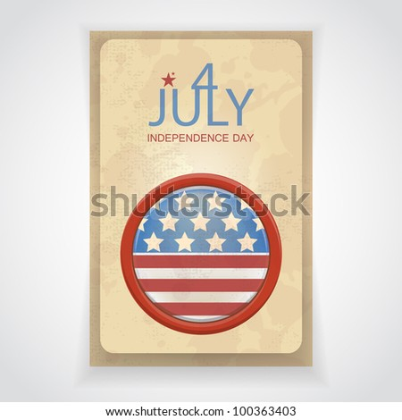 leaflet by July 4 in style of a retro - stock vector