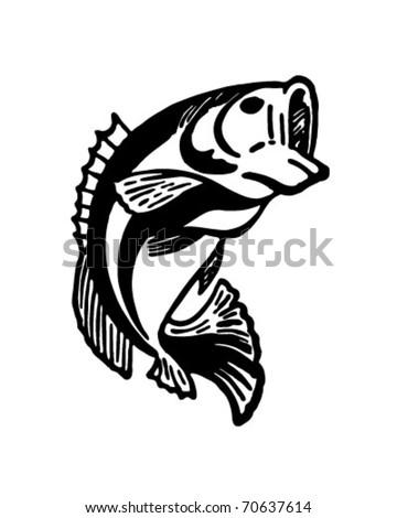 Leaping Fish - Retro Ad Art Illustration - stock vector