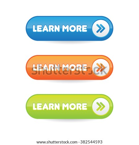 Learn More Buttons - stock vector