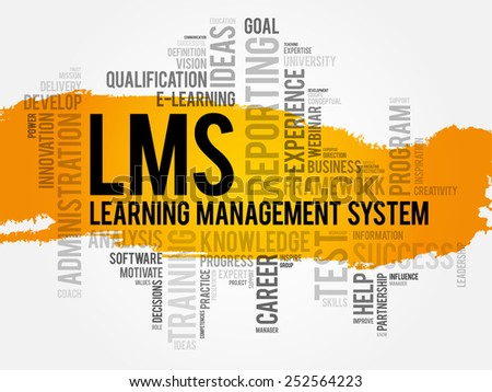Learning Management System (LMS) word cloud business concept - stock vector