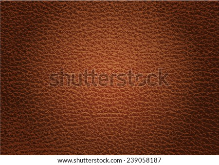 leather texture brown background , Vector EPS 10. - stock vector