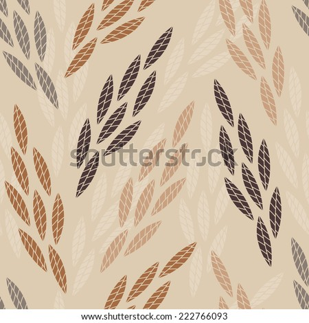 Leaves. Foliage background. Floral seamless pattern. - stock vector
