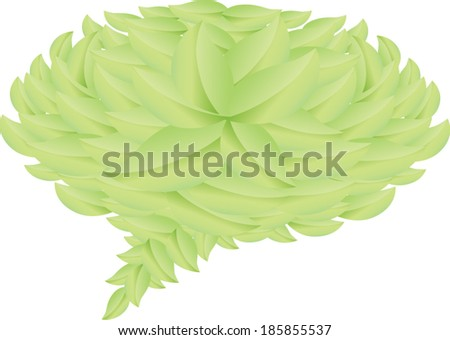 Leaves Speech bubble blank - stock vector