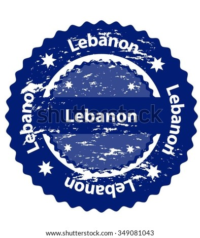 Lebanon Country Grunge Stamp - stock vector