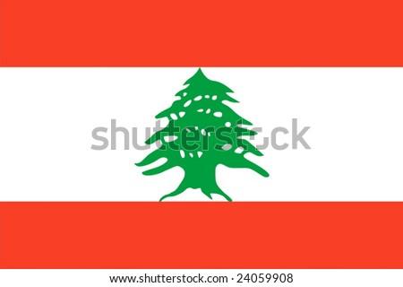 Lebanon national flag. Illustration on white background - stock vector