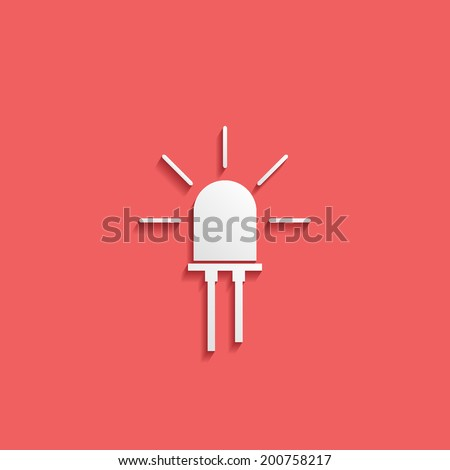 led - stock vector