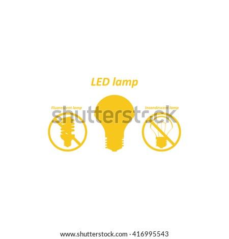 LED lamp Icon, LED lamp Icon Vector, LED lamp Icon JPG, LED lamp Icon JPEG, LED lamp Icon EPS, LED lamp Icon design, fluorescent lamp, LED lamp, incandescent bulb . icon. vector design - stock vector