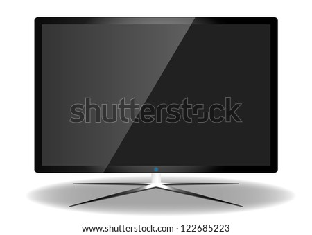 LED Television - Vector Design - stock vector