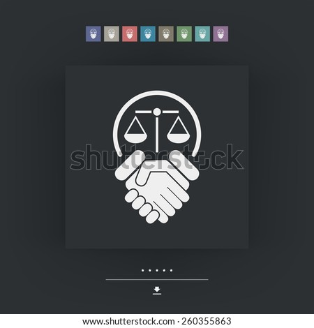 Legal agreement - stock vector
