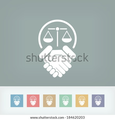 Legal agreement icon - stock vector
