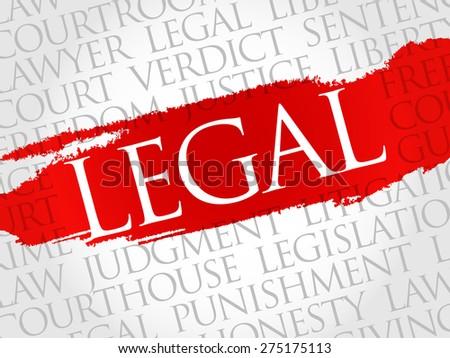 Legal word cloud concept - stock vector