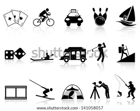 Leisure and Recreation icons - stock vector