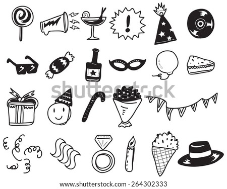 leisure doodle - stock vector