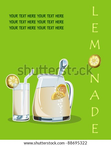 Lemonade - stock vector