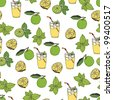 Lemonade pattern - stock vector