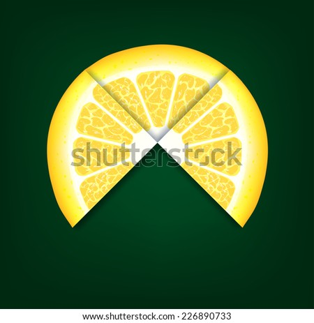 lemons segments. Vector background - stock vector
