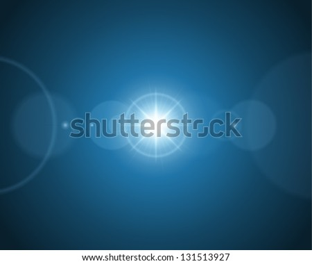Lens flare ligh abstract vector background - stock vector