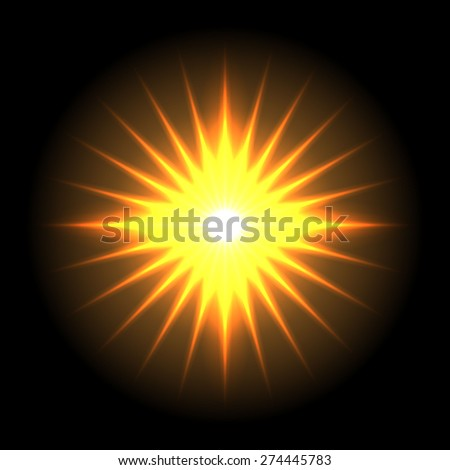 Lens flare vector background 5 - stock vector