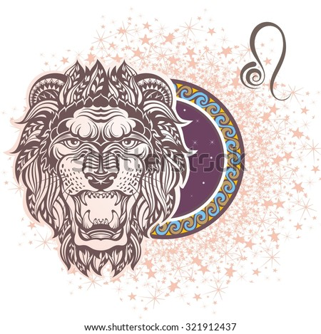 Leo. Zodiac sign - stock vector