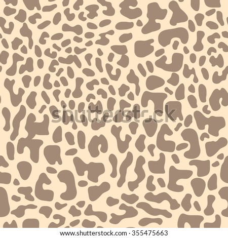 Leopard expressive seamless pattern. Safari textile collection. Beige on white. Backgrounds & textures shop. - stock vector