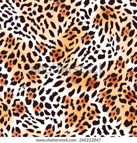 Leopard fur seamless vector print  - stock vector