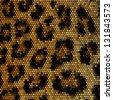 Leopard mosaic vector background - stock vector