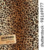 Leopard skin, Repeat pattern - stock vector