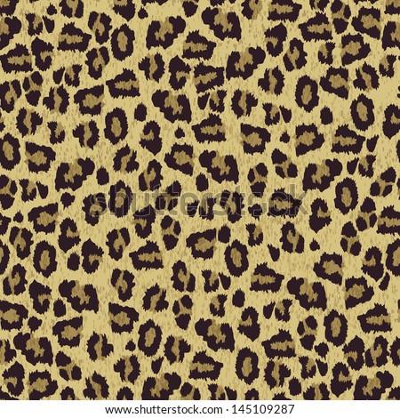Leopard skin texture - stock vector