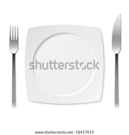 Let's eat! Vector set of kitchen object. - stock vector