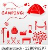 let's go to camping! - stock vector