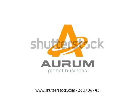 Letter A Logo design. Vector template.  - stock vector