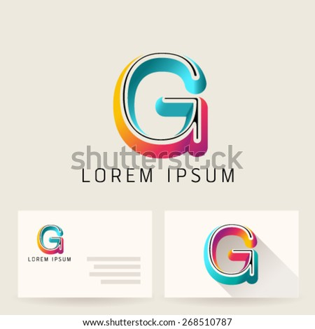 Letter Alphabet G Logo Icon Design Template Element. Vector Color Sign Easy Editable for Your Design. - stock vector