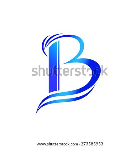 Letter B logo design - stock vector