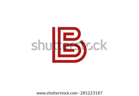 Letter B Logo vector alphabet design element template. ABC concept type as logotype. Typography icon line art - stock vector