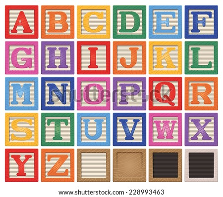 Letter Blocks - stock vector