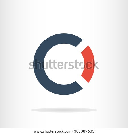 Letter C and O logo template. Business logo template. CO logo. CO silhouette - stock vector