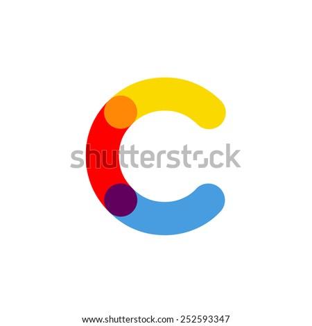 Letter C logo icon vector design, - stock vector