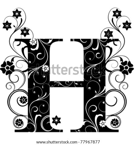 Letter Capital H - stock vector