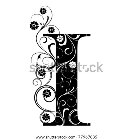 Letter Capital I - stock vector