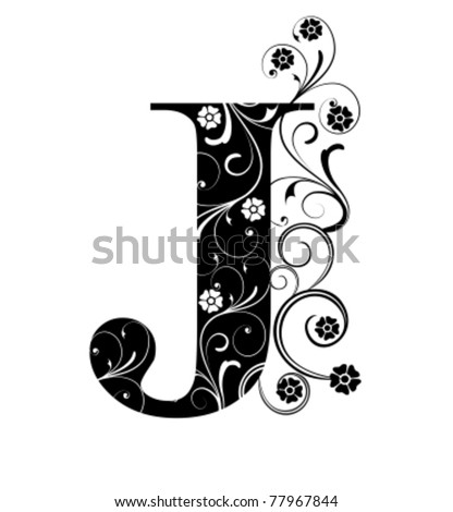 Letter Capital J - stock vector