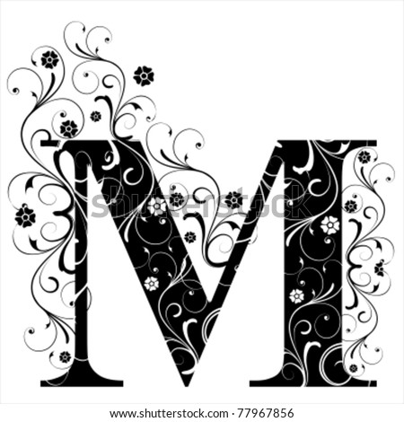 Letter Capital M - stock vector