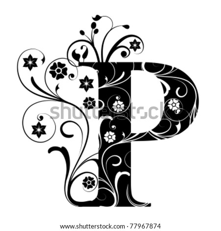 Letter Capital P - stock vector