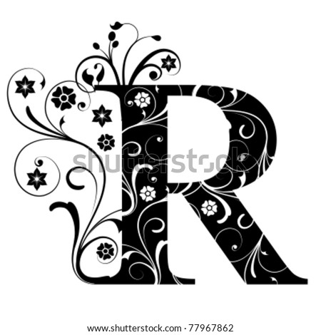 Letter Capital R - stock vector